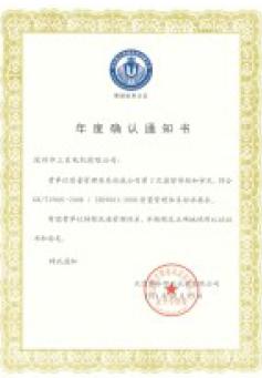 San Ju-annual confirmation notice