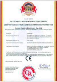 三巨电机- CE认证