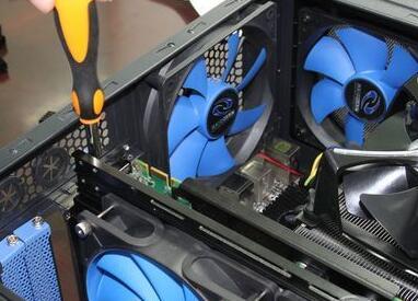 台湾三巨电机电脑散热片的散热风扇固定架