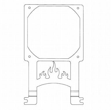 Cooling fan bracket for computer case